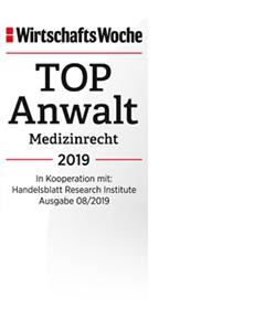 Top-Anwalt 2019 im Ranking der WirtschaftsWoche