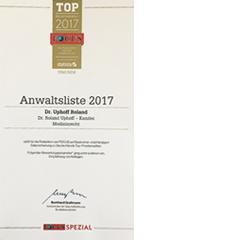 Focus Top Anwalt 2017